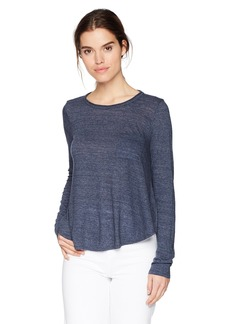 Three Dots Women's nepps Jersey l/s Short Loose Shirt Night iris