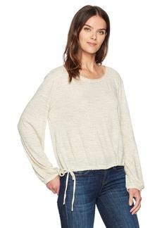 Three Dots Women's nepps Jersey Neck Short Shirt
