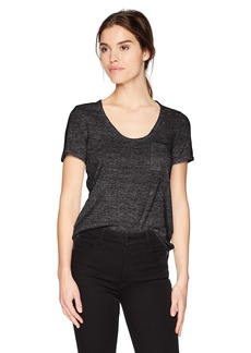 Three Dots Women's nepps Jersey s/s Short Loose Shirt