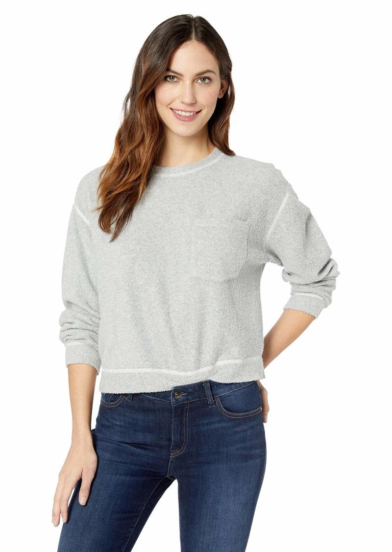 Three Dots Women's OC2800 Cozy Fleece Reversible Sweatshirt  Extra Small