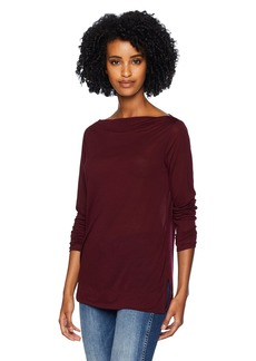 Three Dots Women's OL2715 Tencel Bateau tee  Extra Small