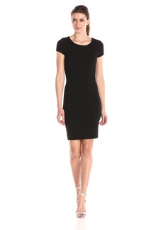 Three Dots Women's Ottoman Ponte Cap Sleeve Dress