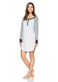 Three Dots Women's Pajama Set Loose Mid Night Dress