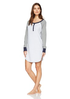 Three Dots Women's Pajama Set Loose Mid Night Dress