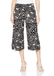 Three Dots Women's Palm Print Cropped Loose Pant