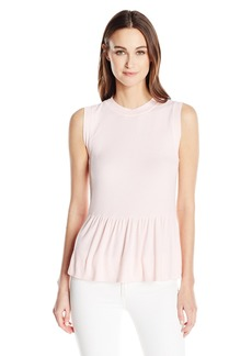 Three Dots Women's Peplum Tank  L