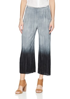 Three Dots Women's Pleated Ombre Midi Loose Pant