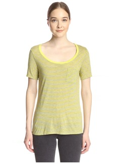 Three Dots Women's Pocket Tee  M