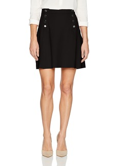 Three Dots Women's Ponte a-Line Loose Short Skirt