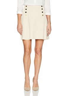 Three Dots Women's Ponte A-line Loose Short Skirt Off
