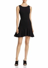Three Dots Women's Ponte fit & Flare Seamed mid Tight Dress  Extra Large