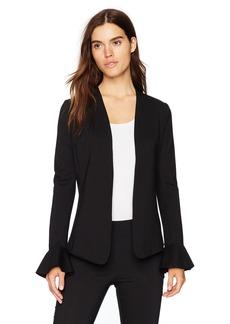 Three Dots Women's Ponte Loose Long Jacket