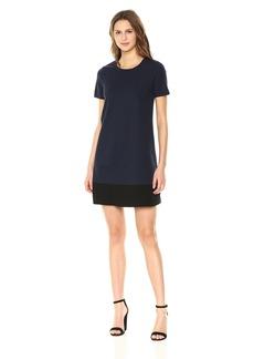 Three Dots Women's Ponte Loose Mid Dress