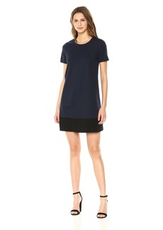 Three Dots Women's Ponte Loose Mid Dress