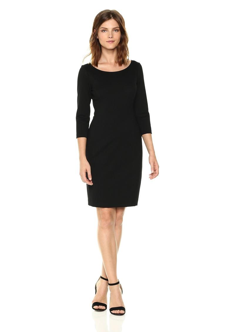Three Dots Women's Ponte Sheath mid Loose Dress  Extra Small