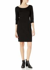 Three Dots Women's Ponte Sheath mid Loose Dress