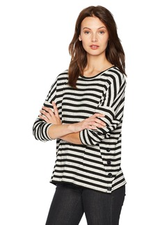 Three Dots Women's Poorboy Boxy Loose Mid Shirt