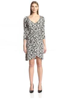 Three Dots Women's Printed Wrap Dress  S