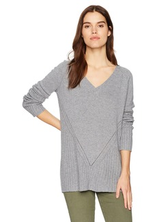 Three Dots Women's Pull Over Loose Long Sweater