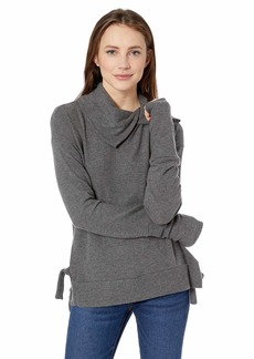 Three Dots Women's QQ2778 Brushed Sweater W/Novelty Neck  Extra Large
