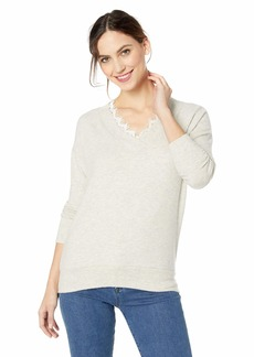 Three Dots Women's QQ2792 Brushed Sweater Tunic W/LACE