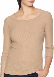 Three Dots Women's QQ4207 Brushed Sweater 3/4 SLV tee