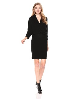 Three Dots Women's QQ5862 Brushed Sweater 3/4 Sleeve Dress  Extra Large