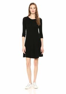 Three Dots Women's QQ5889 Brushed Sweater Swing Dress