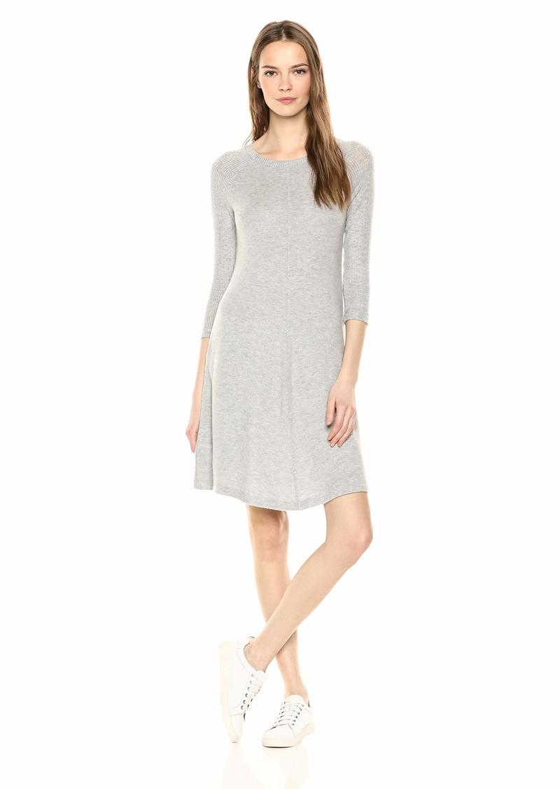 Three Dots Women's QQ5889 Brushed Sweater Swing Dress  Extra Small