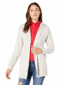 Three Dots Women's QQ7447 Brushed Sweater Hooded Cardi