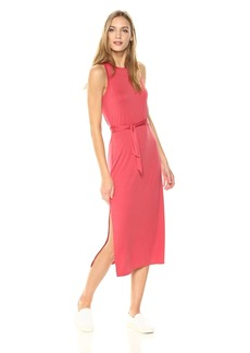 Three Dots Women's Refined Jersey Easy Tight Midi Dress