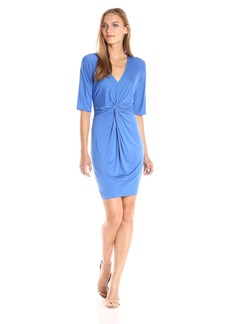 Three Dots Women's Refined Jersey Knot Dress  XL