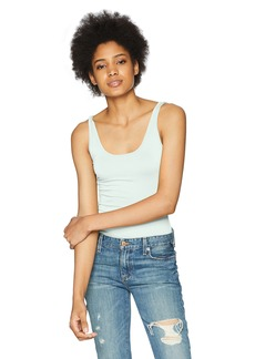 Three Dots Women's Refined Jersey Long Tight Tank hint of Mint