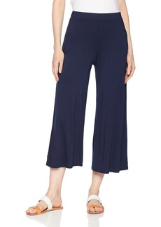 Three Dots Women's Refined Jersey Loose Long Pant Night iris