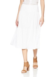 Three Dots Women's Refined Jersey Loose Midi Skirt