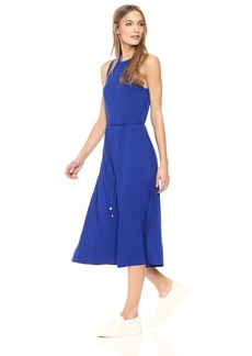 Three Dots Women's Refined Jersey Trapeze Long Loose Dress  Extra Small
