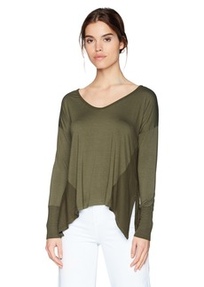 Three Dots Women's Refined Jersey v-Neck Short Loose Shirt NICOISE Extra Large