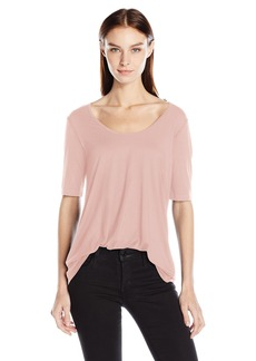 Three Dots Women's Relaxed Easy Fit Tee  M