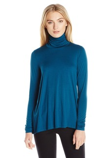 Three Dots Women's Relaxed Turtleneck  L