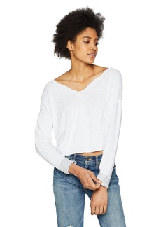 Three Dots Women's Reversible Beach Terry Loose Short Sweater