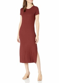 Three Dots Women's Ribbed Dress with Side Slits