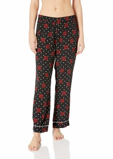 Three Dots Women's SF6176 Dotted Rose Print PJ Pant  Extra Small