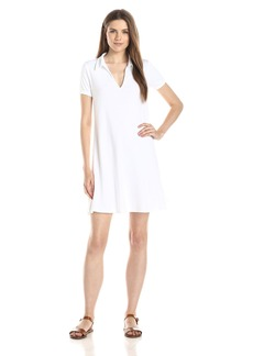 Three Dots Women's Short Sleeve A-Line Polo Dress