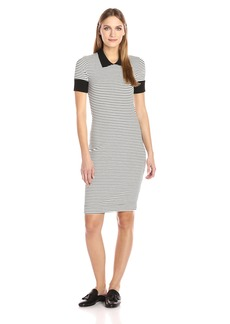 Three Dots Women's Short Sleeved Collar Dress  S