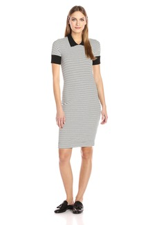 Three Dots Women's Short Sleeved Collar Dress  S