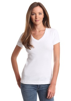 Three Dots Women's Shortsleeve Mid-V Neck Tee