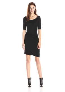 Three Dots Women's Side Pleat Dress