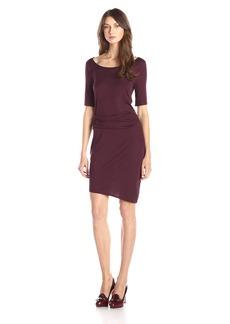 Three Dots Women's Side Pleat Dress