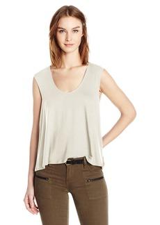 Three Dots Women's Sleeveless Drape Back Top  S