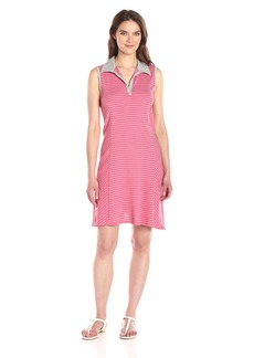 Three Dots Women's Sleeveless Polo Dress  M